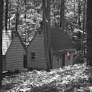 American Little House In The Woods Art Print