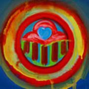 American Love Button Art Print