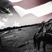 American Patriot -  Cowboy -girl Art Print