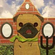 American Pug Gothic Art Print