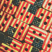 American Quilting Background Art Print