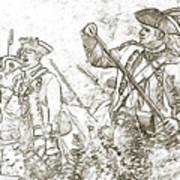 American Revolution Battle Sketch Art Print