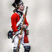 American Revolution British Soldier  Art Print by Randy Steele