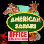 American Safari Motel Art Print