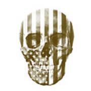 American Skull Beige Art Print