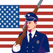 American Soldier Flag Print by Aloysius Patrimonio