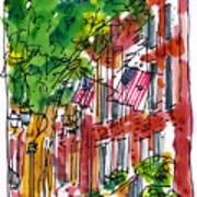 American Street Philadelphia Art Print by Marilyn MacGregor