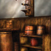 Americana -  In The Corner Of The General Store  Art Print