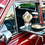 Americana - The Car Hop Print by Paul Ward