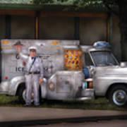 Americana -  We Sell Ice Cream Art Print by Mike Savad
