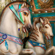 Americana - Carousel Beauties Art Print