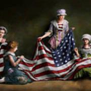 Americana - Flag - Birth Of The American Flag 1915 Art Print