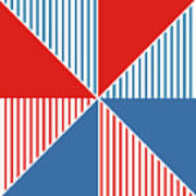 Americana Pinwheel Art Print