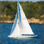 America's Cup 12 Meter Sailboat Newport Ri Art Print