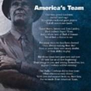 America's Team Poetry Art Art Print by Stanley Mathis