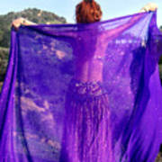 Ameynra Belly Dance. Purple Veil Art Print