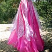Ameynra Design - Pink-white Petal Skirt 146 Art Print