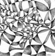 Amidst Silken Sheets Art Print