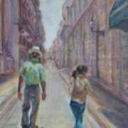 Amigos En Havana Art Print