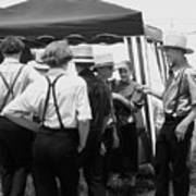Amish Auction Day Art Print