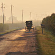 Amish Buggy And Corn Over Your Head Art Print