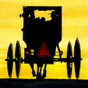 Amish Buggy At Dusk Art Print by Michael Vigliotti