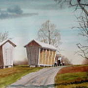 Amish Corncribs Art Print