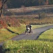 Amish Country Horse And Buggy In Autumn Art Print