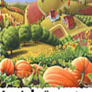 Amish Country - Pumpkin Patch Country Farm Landscape Art Print