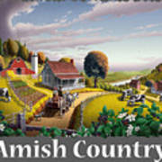 Amish Country T Shirt - Appalachian Blackberry Patch Country Farm Landscape Art Print