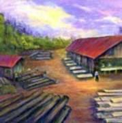 Amish Lumbermill Art Print