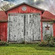 Amish Red Barn Art Print