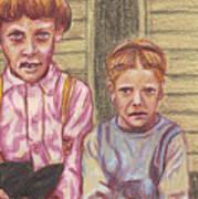 Amish Siblings Art Print