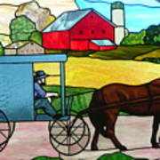 Amish Stained Glass Art Print