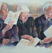 Amish Trio Art Print