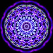 Ammersee Cropcircle Lightmandala Morph Art Print