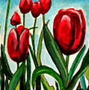 Among The Tulips Art Print