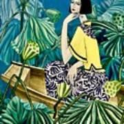 Among The Withered Lotus  Art Print