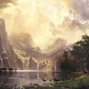 Among_the_sierra_nevada_mountains Art Print