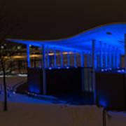 Amphitheater In Blue Art Print