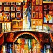 Amsterdam - Little Bridge Art Print