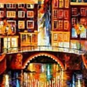 Amsterdam - Little Bridge Art Print