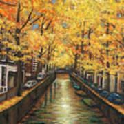 Amsterdam Autumn Print by Johnathan Harris