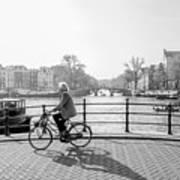 Amsterdam Bike Ride Art Print