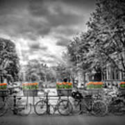 Amsterdam Gentlemens Canal Typical Cityscape Art Print