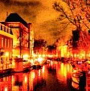 Amsterdam Night Life L A S Art Print