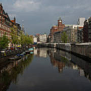 Amsterdam - Singel Canal With The Floating Flower Market Art Print