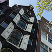 Amsterdam Spring - Arched Windows And Shutters - Right Art Print