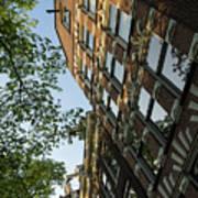 Amsterdam Spring - Fancy Brickwork Glow - Left Vertical Art Print