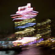 Amsterdam The Netherlands A'dam Tower Abstract At Night. Art Print